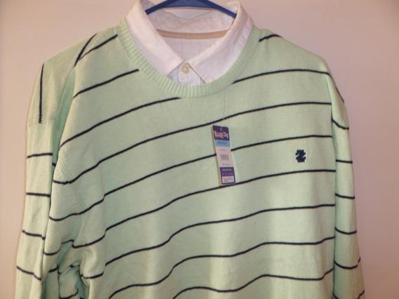 Sweater Sport Izod Ligero Verde Aqua Talla Xl