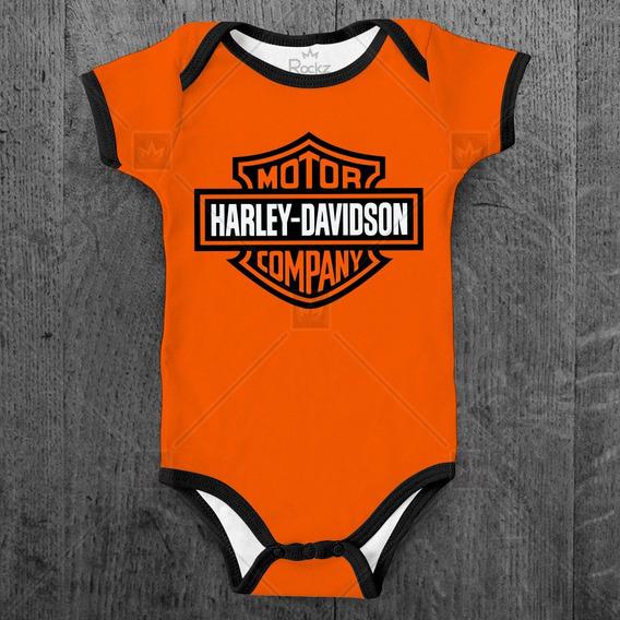 Body Infantil Harley Davidson Bebê Moto Personalizado
