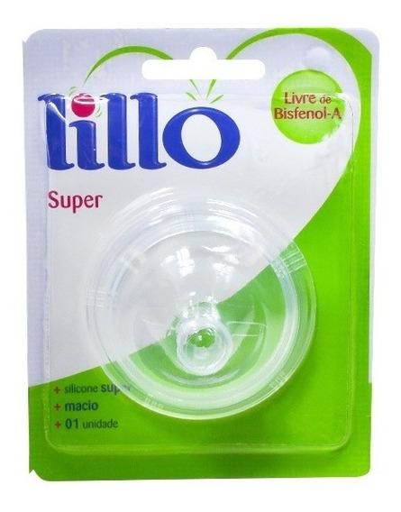 2 Unid Chupeta Bico Mamadeira Lillo Super Em Silicone