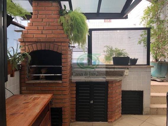 Cobertura Em Santos, Pompéia, 01 Dormitório/02 Vagas, À Venda, 95 M² Por R$ 550.000,00 - Co0207