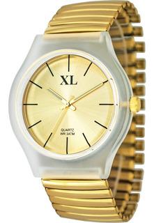 Reloj Xl Extra Large Dama Elastizado Colores Xl664-665-666
