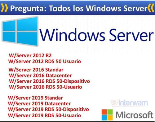 Window Server Todos Rds Cal Datacenter Licencia Key