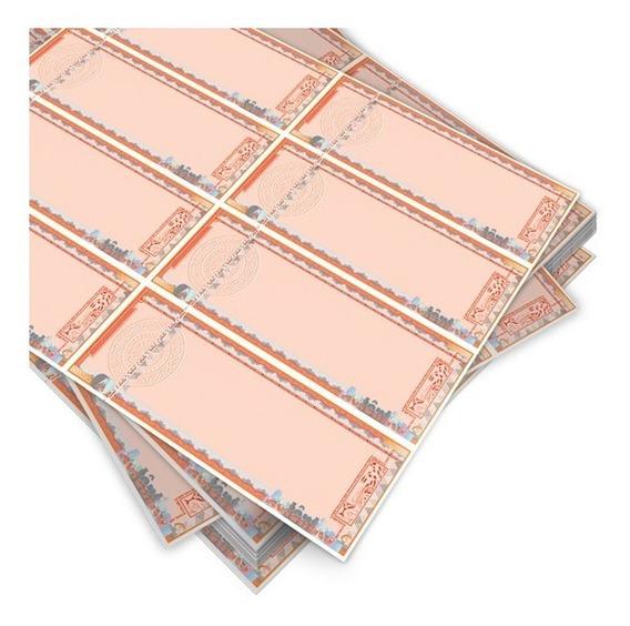 Ingresso Segurança 8 P/ Folha 1000 Ingressos S/ Impressão
