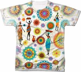 Camisa Camiseta Africana Africa Tecido Elementos Afros