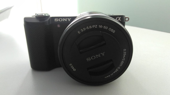 Camera Sony A5000+lente 16-50mm Oss