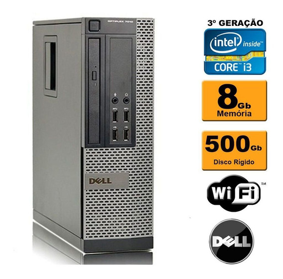 Pc Dell Mini Optiplex 7010 I3 3ª 8gb Hd 500gb Gravador Wifi
