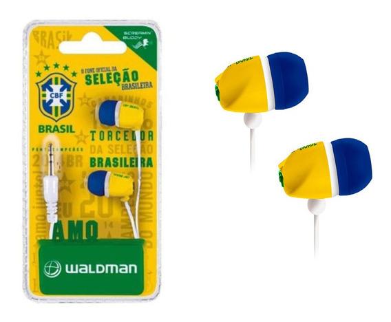 Fone De Ouvido Par Auricular Seleção Brasileira Waldman
