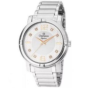 Relógio Champion Feminino Prateado Elegance Cn25252q