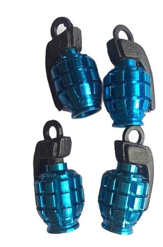 Tapa Gusanillos Tipo Granada 4pzs Color Azules