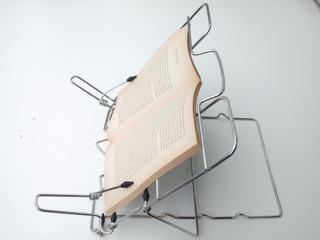 Atril De Lectura Para Libros Metalico Cromado Plegable 3 Pos