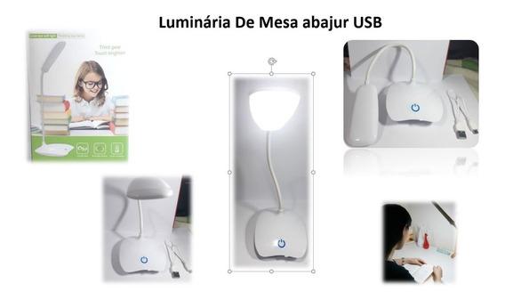 Luminária De Mesa Abajur Usb P/ Ler Aste Flexivel 3 Niveis *