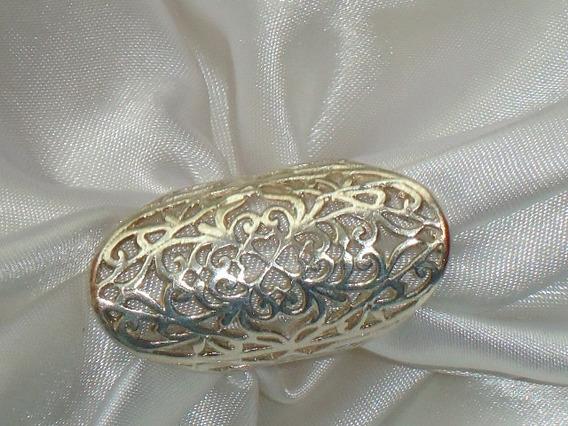 Elegante,raro Anel Unha Vazado Prata Banho,itáliadéc90