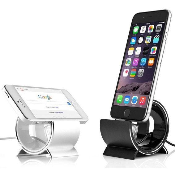 Apple Dock Sinjimoru Silver Aluminum Sync Stand iPhone