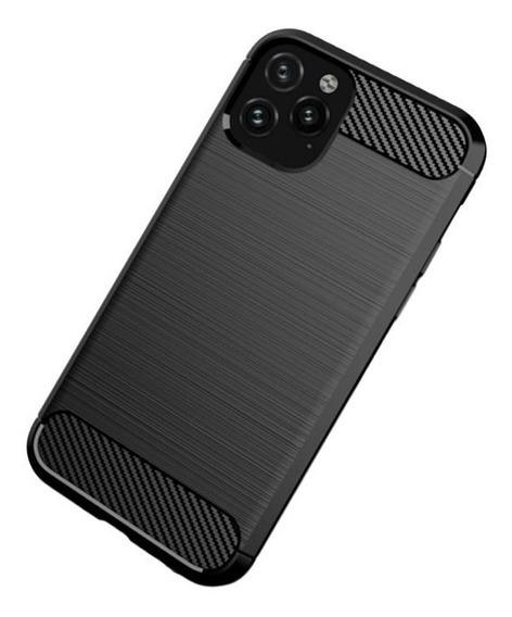 Funda Para iPhone 6 7 8 X Xr Xs 11 Pro Max Plus Carbono