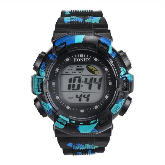 Relógio Masculino Esportivo Militar Digital Camuflado
