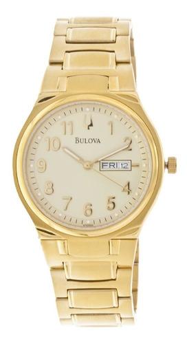 Relógio Bulova Masculino Wb21196g Dourado Analogico