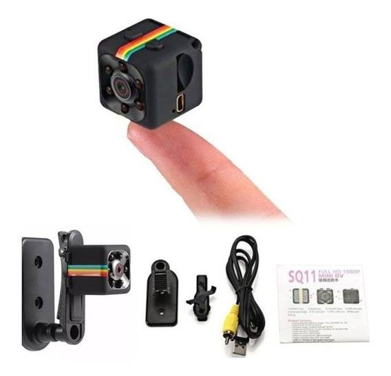 Mini Camera Espiã Sq11 1080p Sensor De Movimento Dvr
