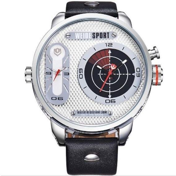 Relógio Masculino Weide Wh-3409 Analógico Prata E Br Com Nf