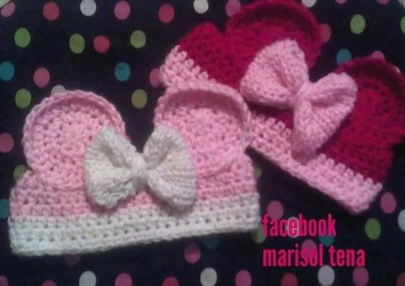 Minnie Mouse Orejas Bow Disney Skay Crochet Headband Moño 2p