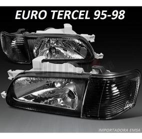 Focos Toyota Tercel 95 - 98 Negro C/d , Jdm En Vidrio Oferta