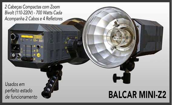 2 Flashes Fotográficos Balcar Mini Z2 (700w) - Bivolt/zoom