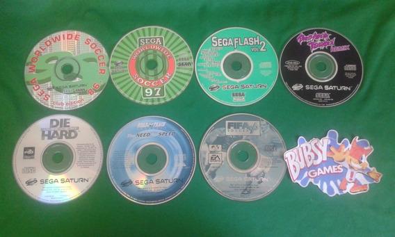 Lote Com 7 Jogos Sega Saturn Europeu