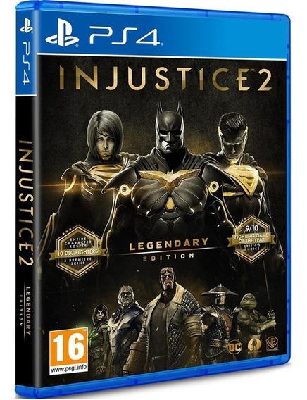 Injustice 2 Legendary Ps4 Mídia Física Cd Original Português