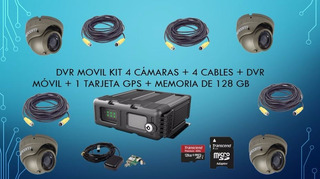 Dvr Movil 4ch Vehiculos Xmr401ahd 4 Camaras + Gps +mem 128gb