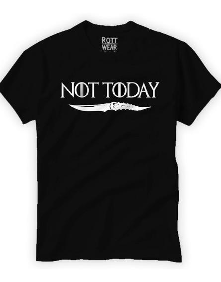Not Today Arya Stark Game Of Thrones Hombre Rott Wear