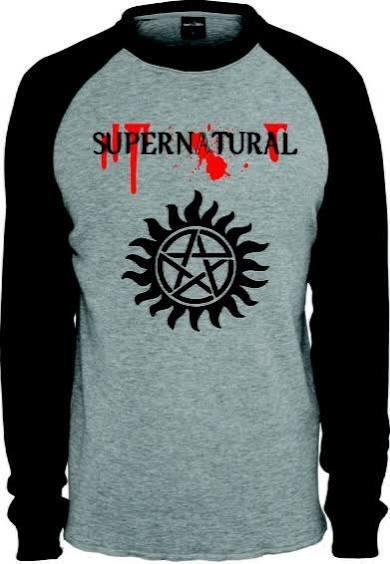 Camiseta Supernatural Manga Longa