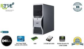 Lt79 Pc Desktop Work Dell Precision T5400 Xeon 4gb 1 Tb