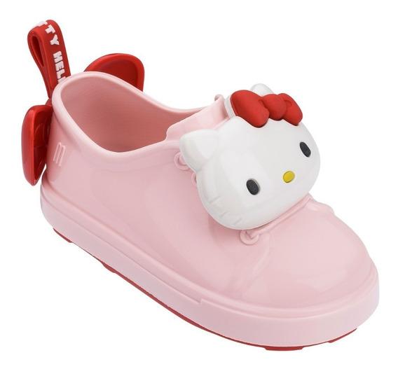 Mini Melissa Be Tênis + Hello Kitty Rosa Branco Original