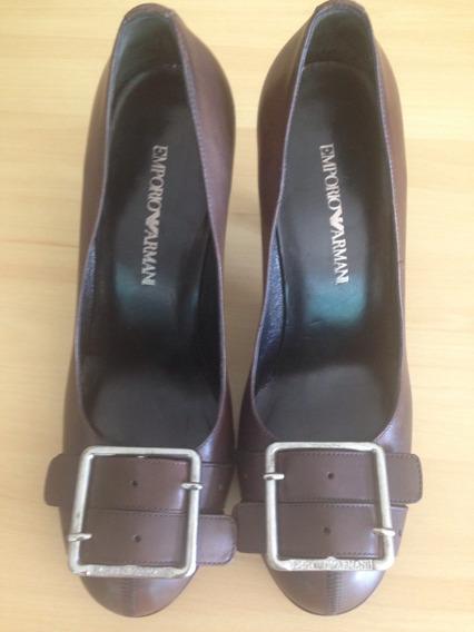 Sapato Feminino Em Couro Marca Empório Armani Número 36
