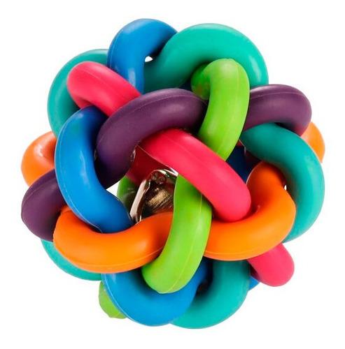 Pelota De Goma Trenzada Colorida De Juguete Para Mascotas