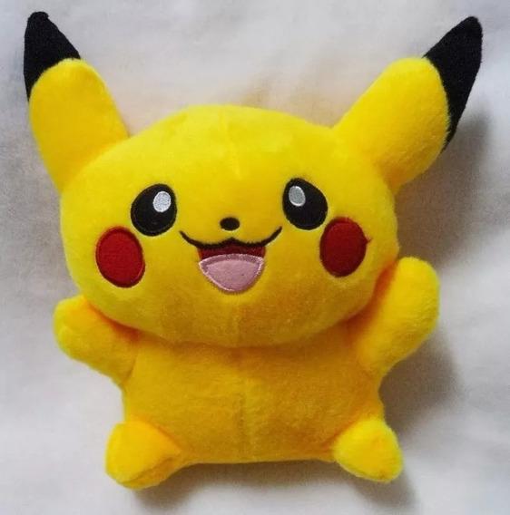 Pokemon Pikachu Pelúcia 22cm Pokebola Pronta Entrega