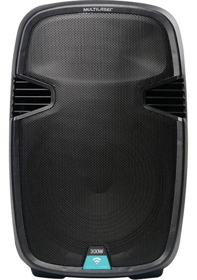 Caixa De Som Multiuso Amplificada Usb/sd/fm/bt Com Microfone