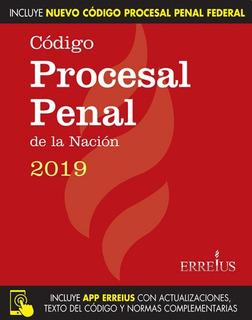 Codigo Procesal Penal Nacion Y Procesal Federal 2019 Rustico