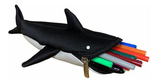 Estojo Infantil Tubarão Com Tecido Automotivo Sustentável