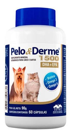 Suplemento Pelo E Derme 1500mg Dha+epa 60 Cap. 90g