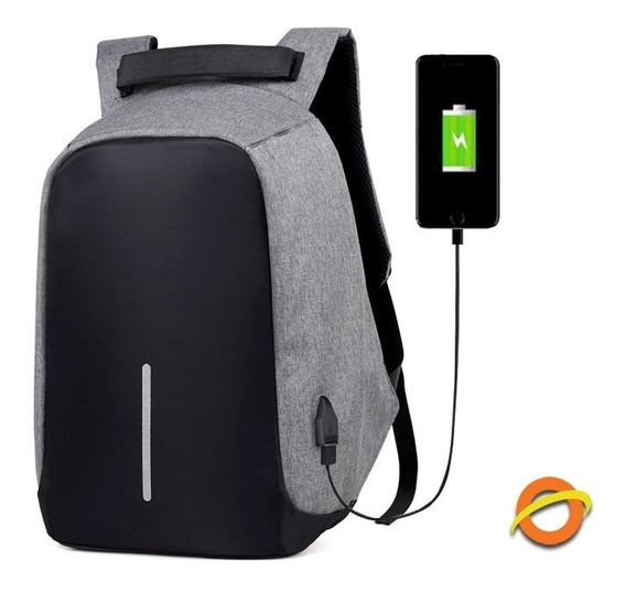 Mochila Porta Notebook Antirrobo Carga Usb Power Bank 35l