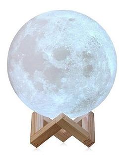 Lampara Luna Llena 12 Cm 16 Cambios De Luz Control Moonligth