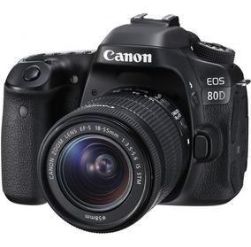 Câmera Canon Eos 80d Com 18-55mm Envio Hoje Mesmo