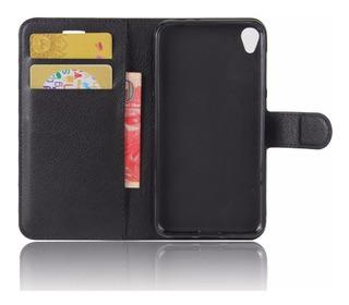 Capa Case Carteira Zenfone Live Zb501kl Tela 5.0 + Pel Vidro