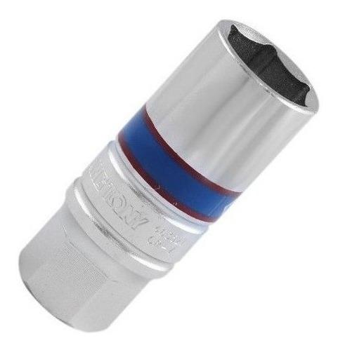 Imagem 1 de 3 de Chave Vela 20.8mm Encaixe 1/2 Crv King Tony C/ Borracha