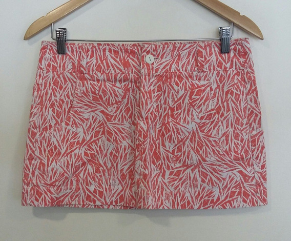 Mini Jeans Blanco Print Geométrico Rojo Ayres Talle 40/s