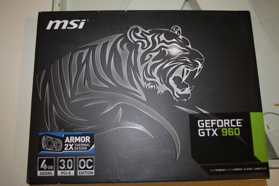 Placa De Video Msi Geforce Gtx 960 128-bit