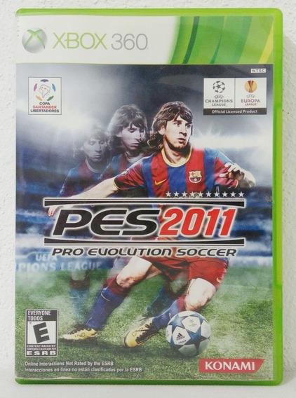 Pes 2011 Pro Evolution Soccer Apenas Capa + Manual Xbox 360