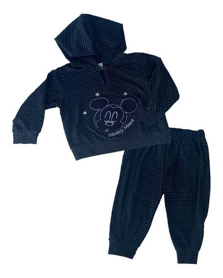 Conjunto Tipo Pants Con Gorro Y Bordado Disney Mickey