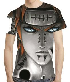 Camisa Naruto Shippuden Camiseta Pain Estampa Total Mod 31
