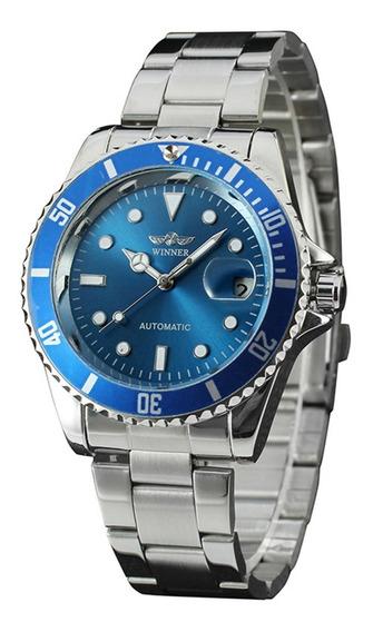 Relógio Winner Automático Rolexsubmariner+caixa Black Friday